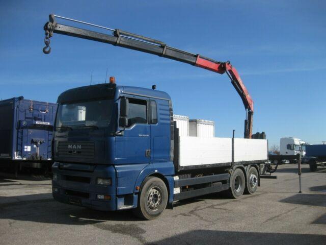 nákladní automobil valníkový/ plošinový MAN - TGA 26.430 LL FASSI F150A.23