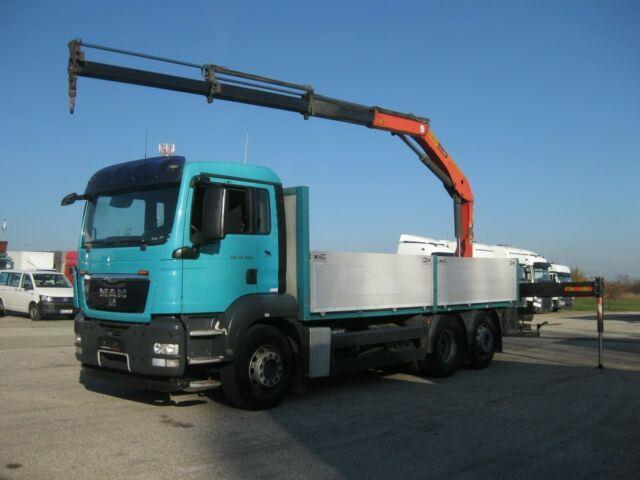 nákladní automobil valníkový/ plošinový MAN - TGS 26.440 BL 6x2 4 Kran PKK 15500 faltbar
