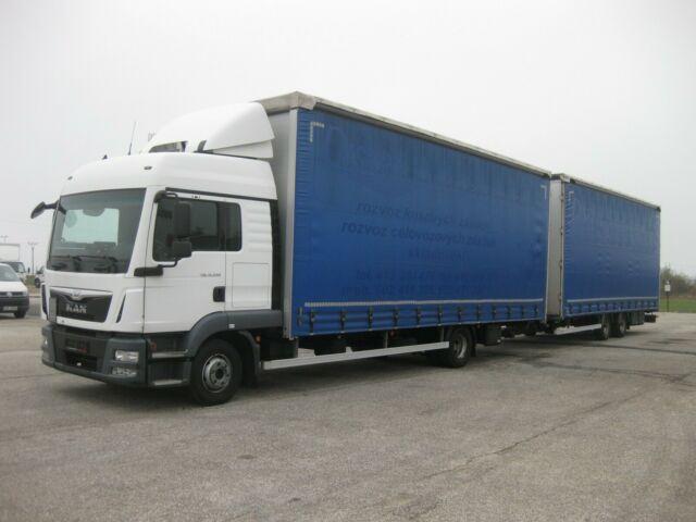 plachtový nákladní auto MAN - TGL 12.250 BL 120 m3 Durchladezug