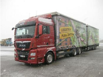 Plachtový nákladní auto  MAN - TGX 24.460 +Schwarzmüller JUMBOZUG